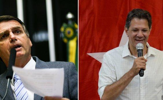 [Ibope: Bolsonaro aparece com 57%; Haddad tem 43%]