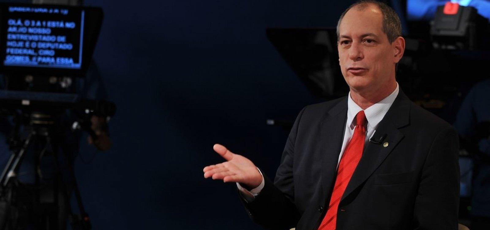 [Presidente do PDT diz que Ciro Gomes vai gravar vídeo de apoio a Haddad]