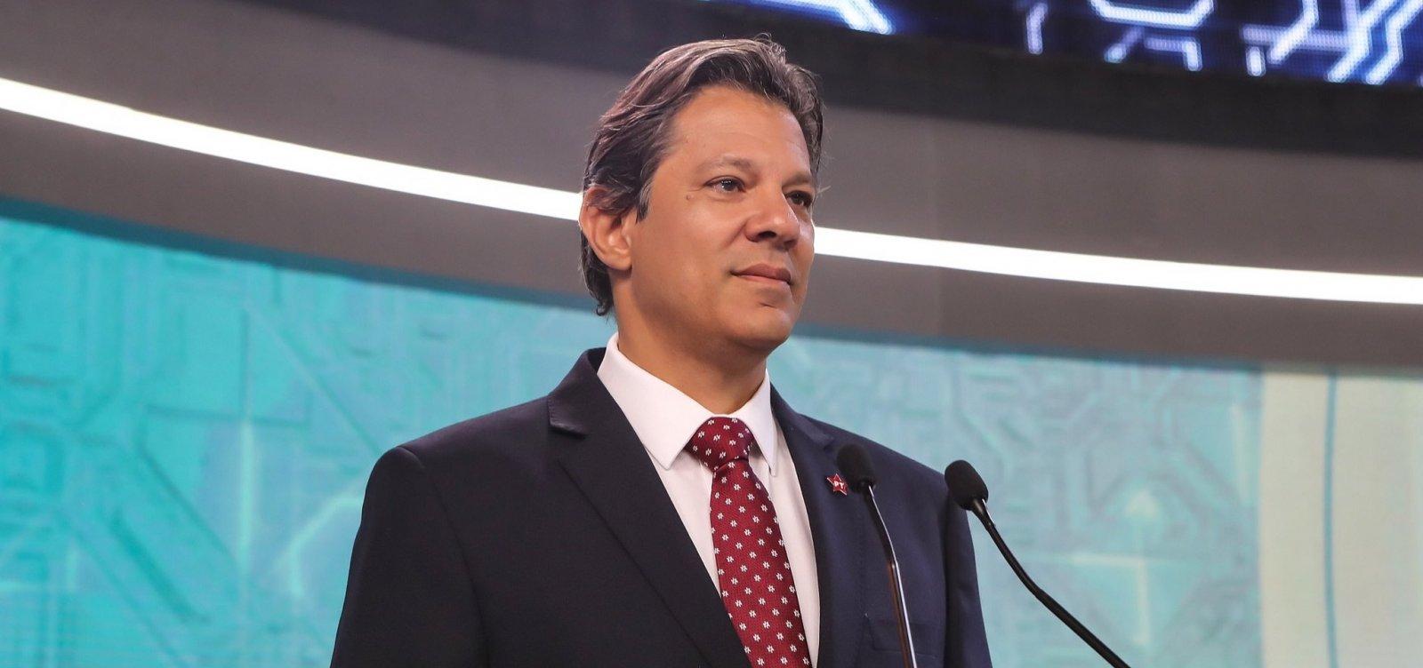 [Em Salvador, Haddad diz esperar crescer '3 ou 4' pontos com apoio de Ciro]