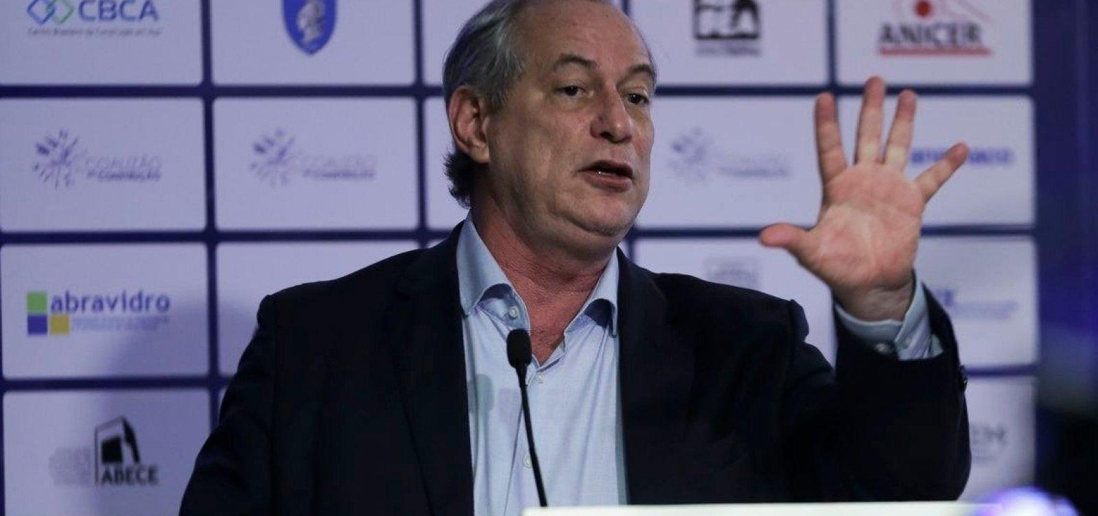 [Sem citar Haddad, Ciro publica vídeo 'em defesa da democracia']