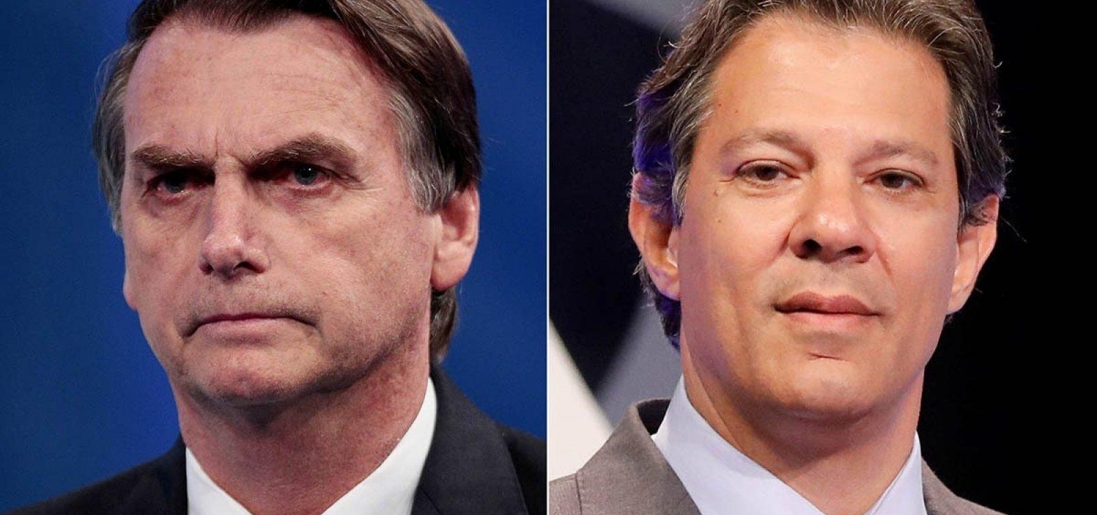 [Último Ibope antes da eleição mostra Bolsonaro com 54% e Haddad, 46%]
