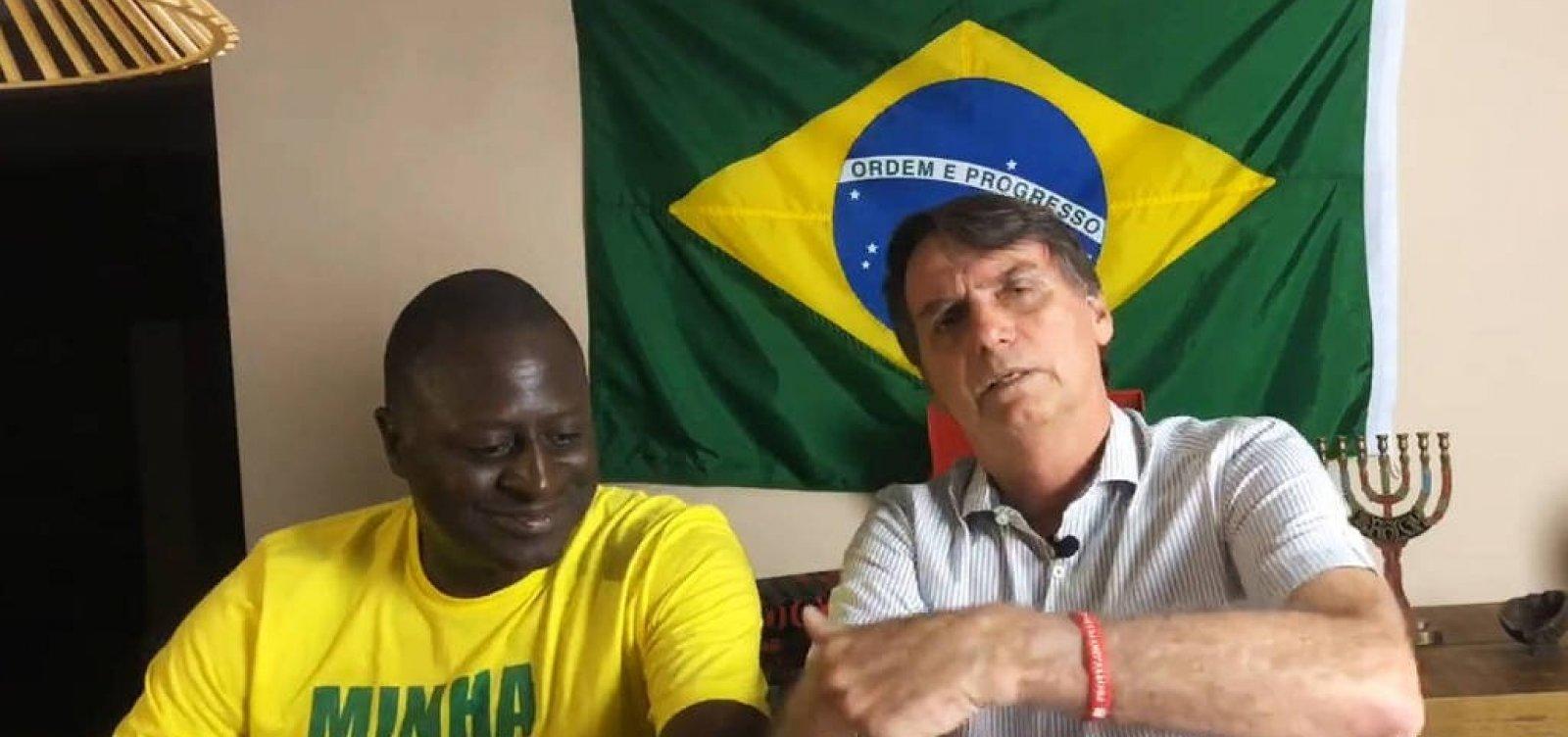 [Bolsonaro se diz 'surpreso' com apoio de Joaquim Barbosa a Haddad]