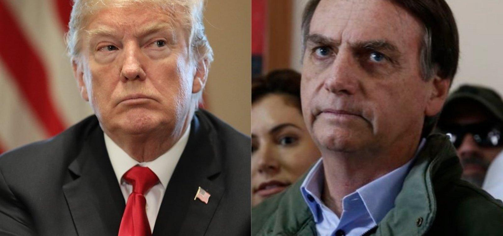 [Trump parabeniza Bolsonaro por vitória]