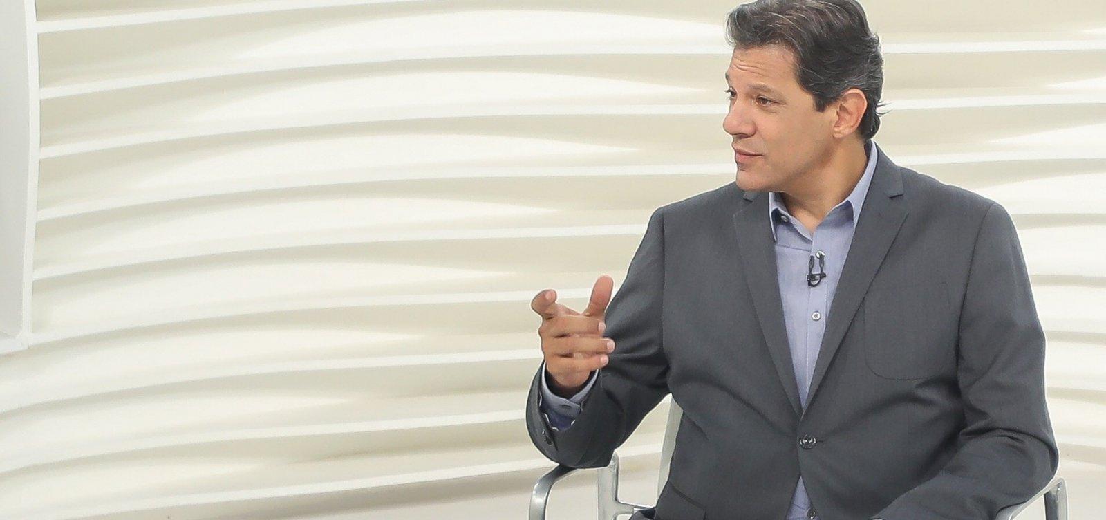 ['Só cumprimentei Bolsonaro quando meu coração se aquietou', diz Haddad]
