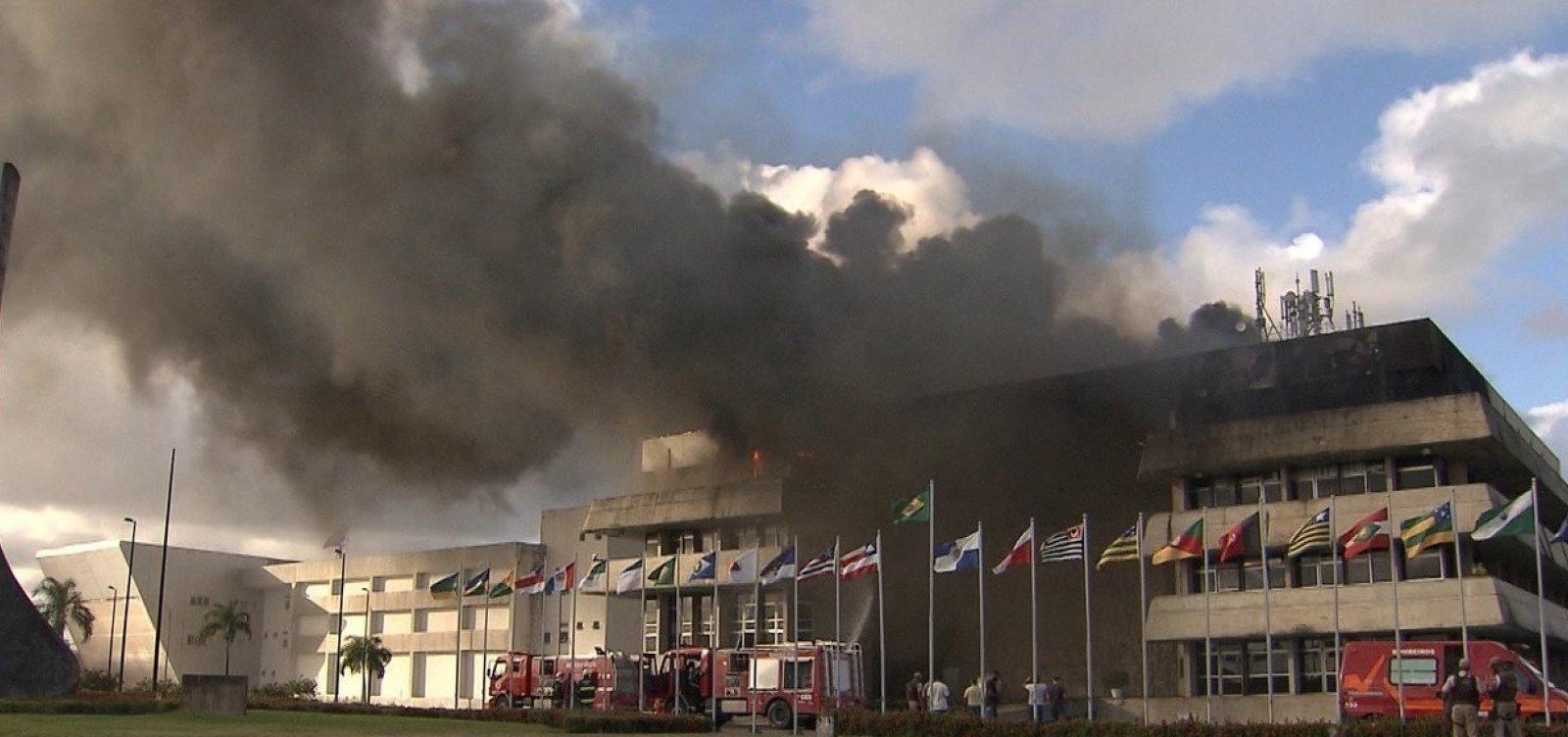 [Perícia descarta incêndio criminoso na Assembleia Legislativa da Bahia]