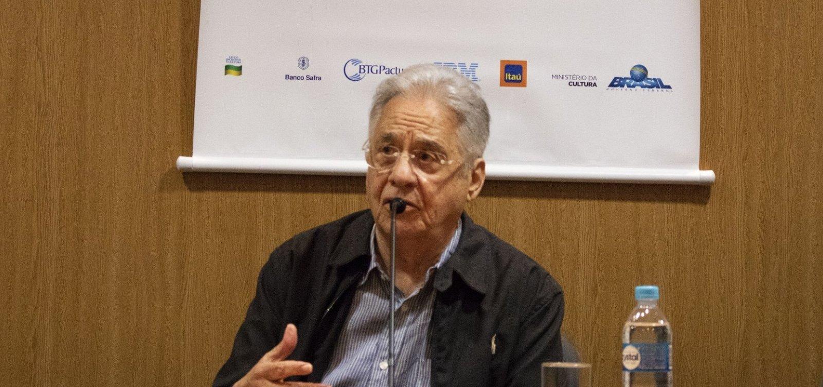 [Fernando Henrique diz Bolsonaro vai prejudicar imagem do Brasil no exterior]