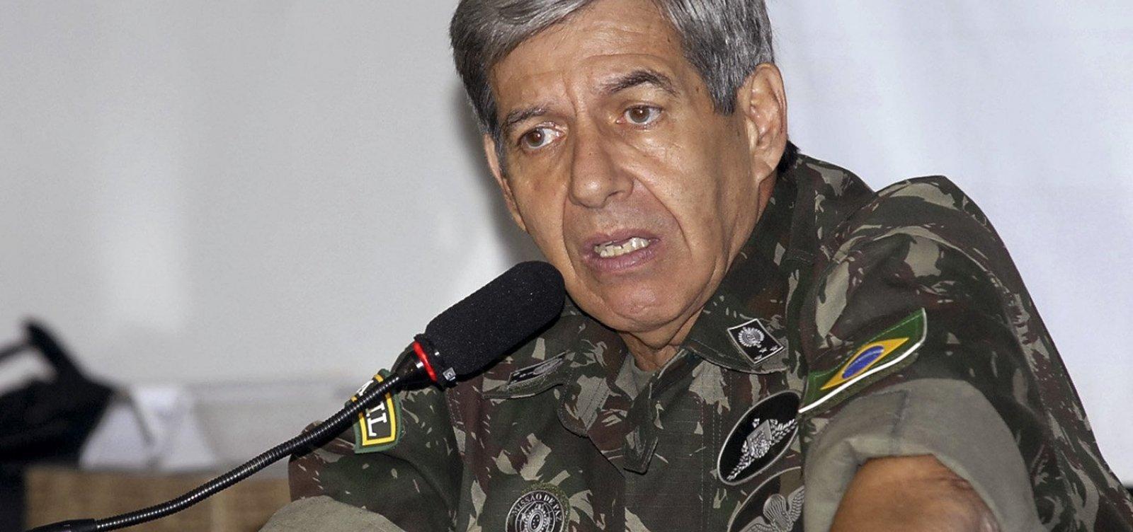 [General Heleno defende presença de militares no governo Bolsonaro  ]