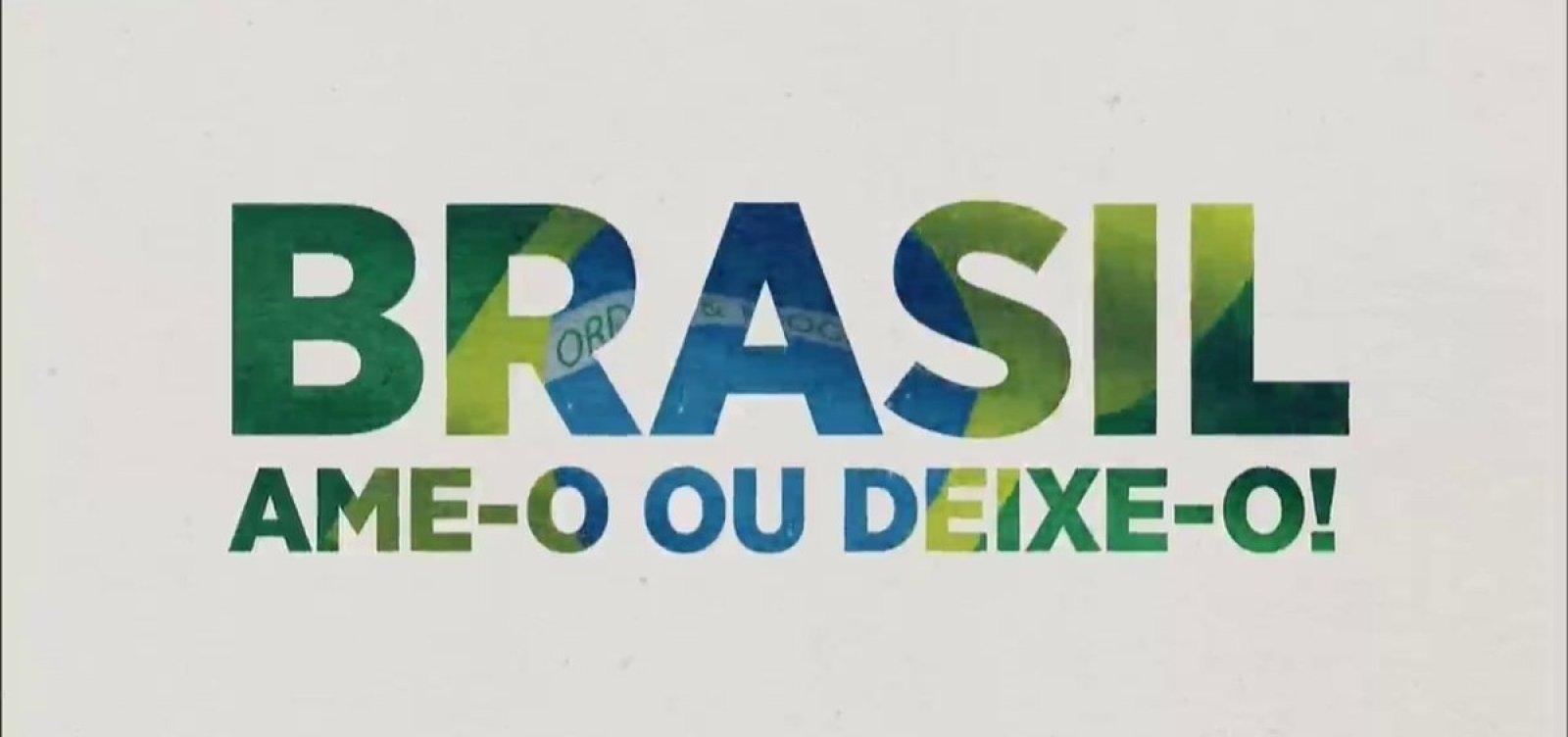 [Em comerciais, SBT revive slogan da ditadura: 'Brasil, ame-o ou deixe-o']