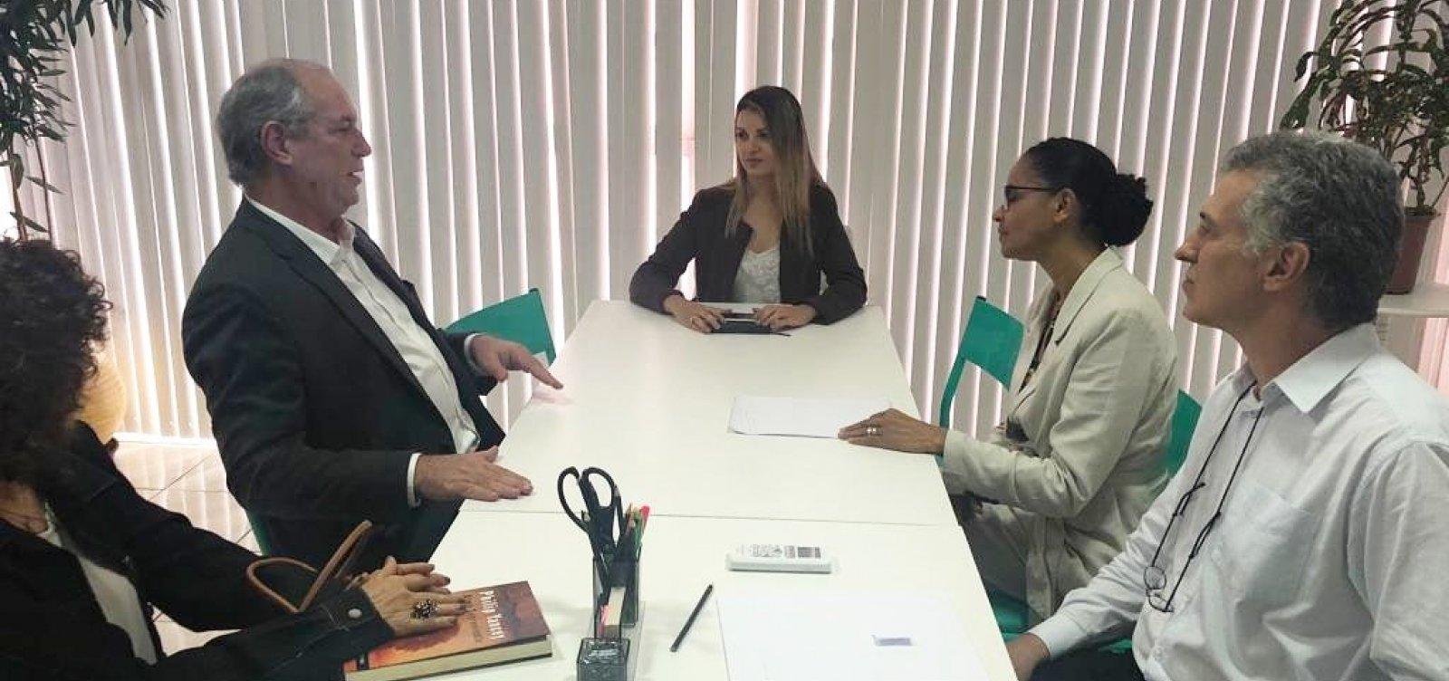 [Ciro Gomes visita Marina Silva para discutir futuro do Brasil e aliança como oposição]