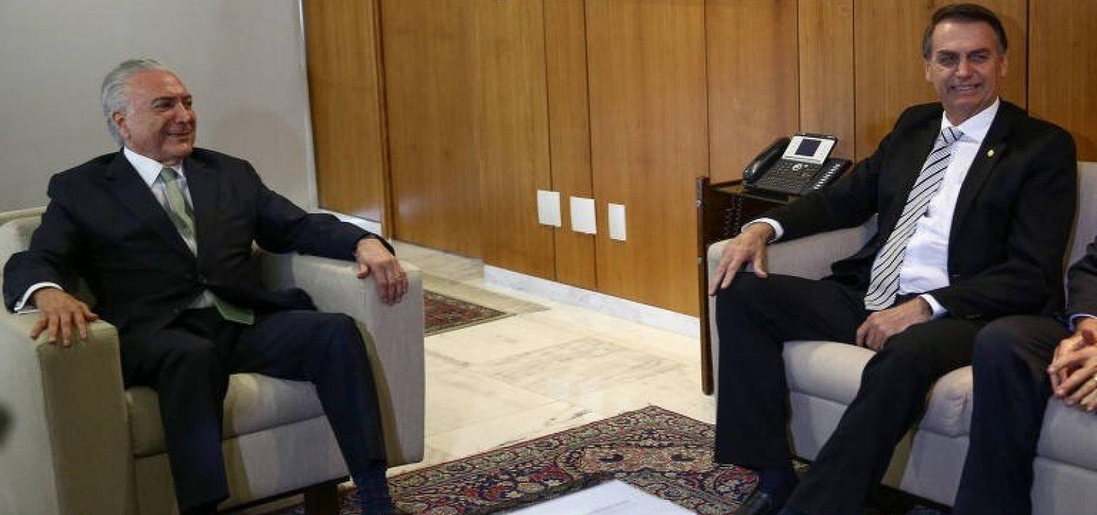 [Temer convida Bolsonaro para reunião do G-20, na Argentina]