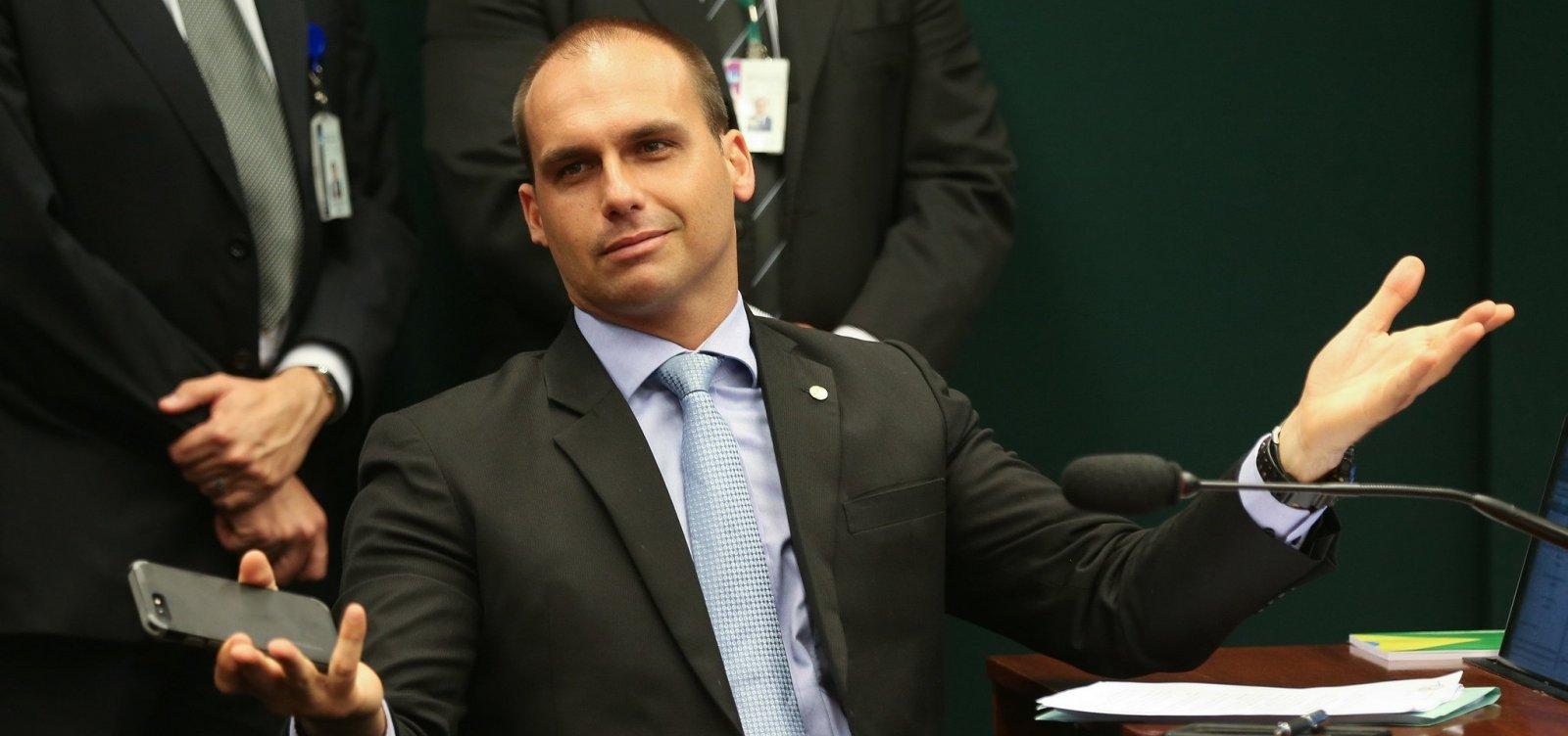 [Sem reuniões confirmadas com governo dos EUA, Eduardo Bolsonaro adia viagem]