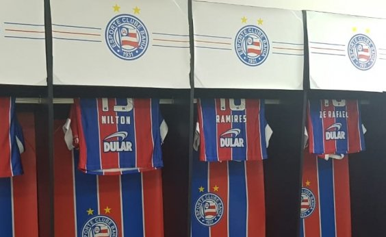 [Afronte? Bahia decora vestiário do Barradão com cores do tricolor ]