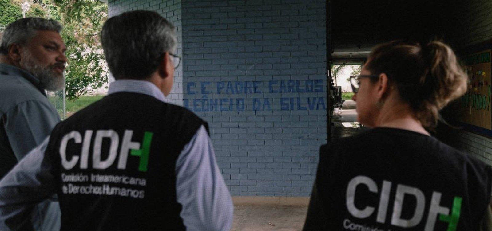 [OEA aponta que o Brasil vive retrocesso nos direitos humanos]