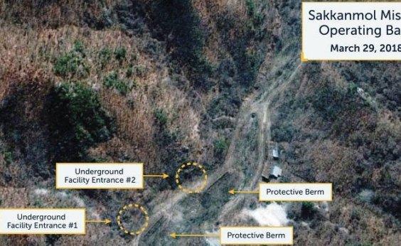 [Imagens de satélite encontram 16 bases secretas de mísseis na Coreia do Norte, diz jornal]