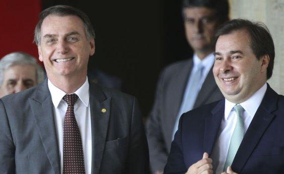 [Bolsonaro diz a Maia que existem 'outros candidatos' à presidência da Câmara]