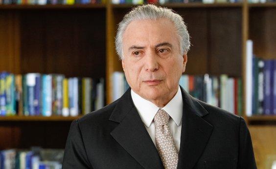 [Em pronunciamento, Temer deseja sucesso a Bolsonaro]