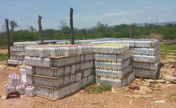 [Após denúncia, carga com 25 mil litros de leite é recuperada no oeste do estado]