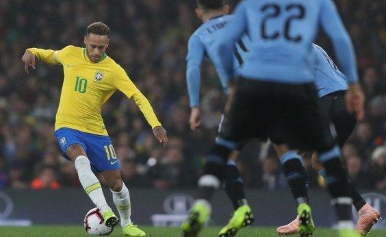 [Em jogo sonolento, Brasil derrota Uruguai por 1 a 0]