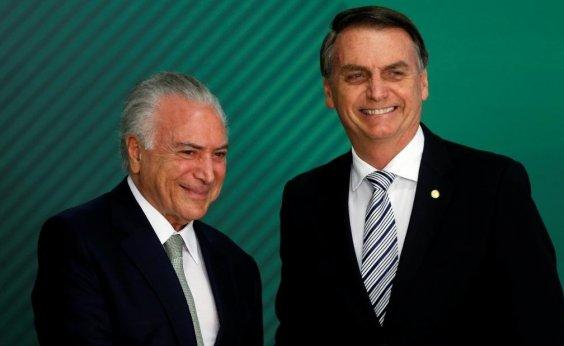 [Temer veta críticas de membros do governo à Bolsonaro]