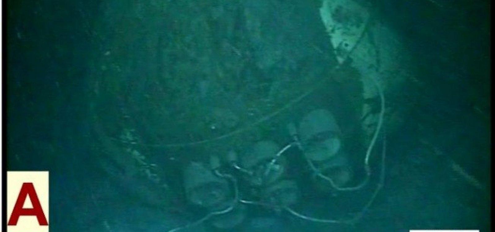 [Marinha da Argentina divulga imagens de submarino naufragado]