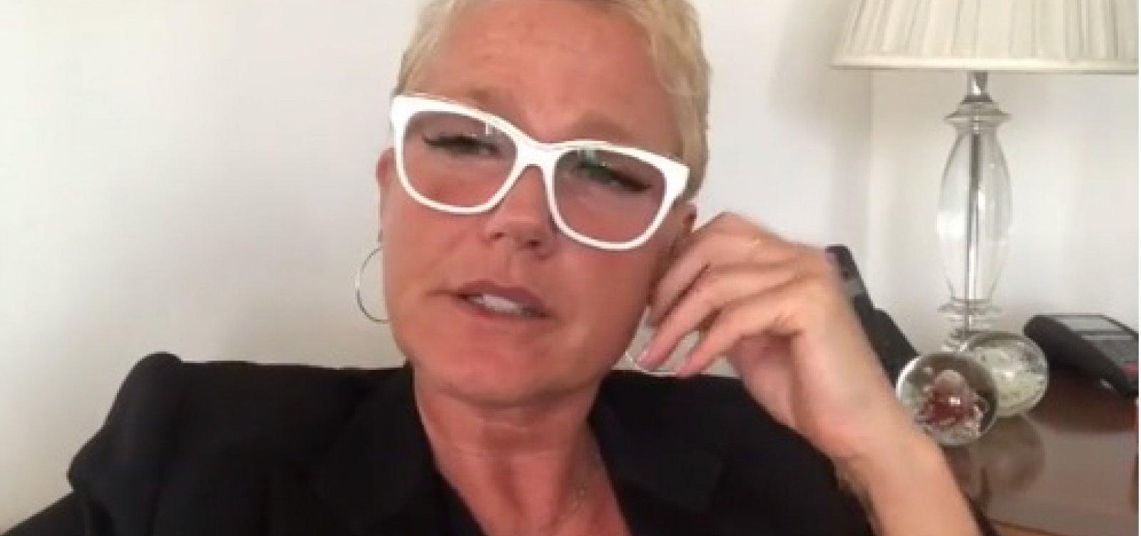 [Xuxa critica produtora que não pagou cachê e cancela show em Recife]