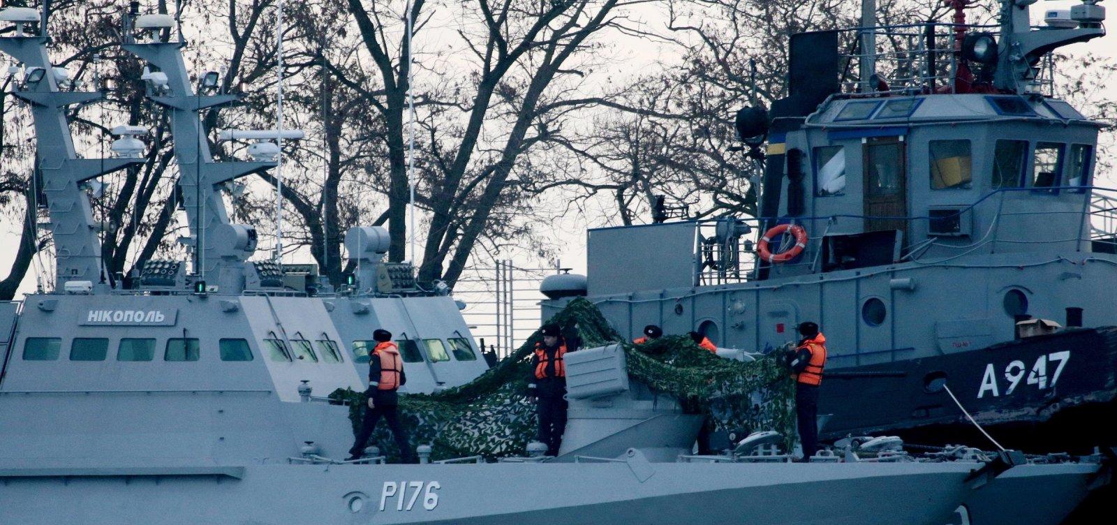 [EUA e Otan condenam Rússia e pedem que navios ucranianos sejam libertados]