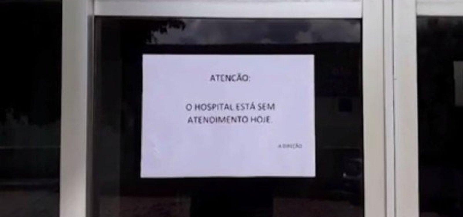 [Funcionários do único hospital de Itanhém paralisam as atividades]