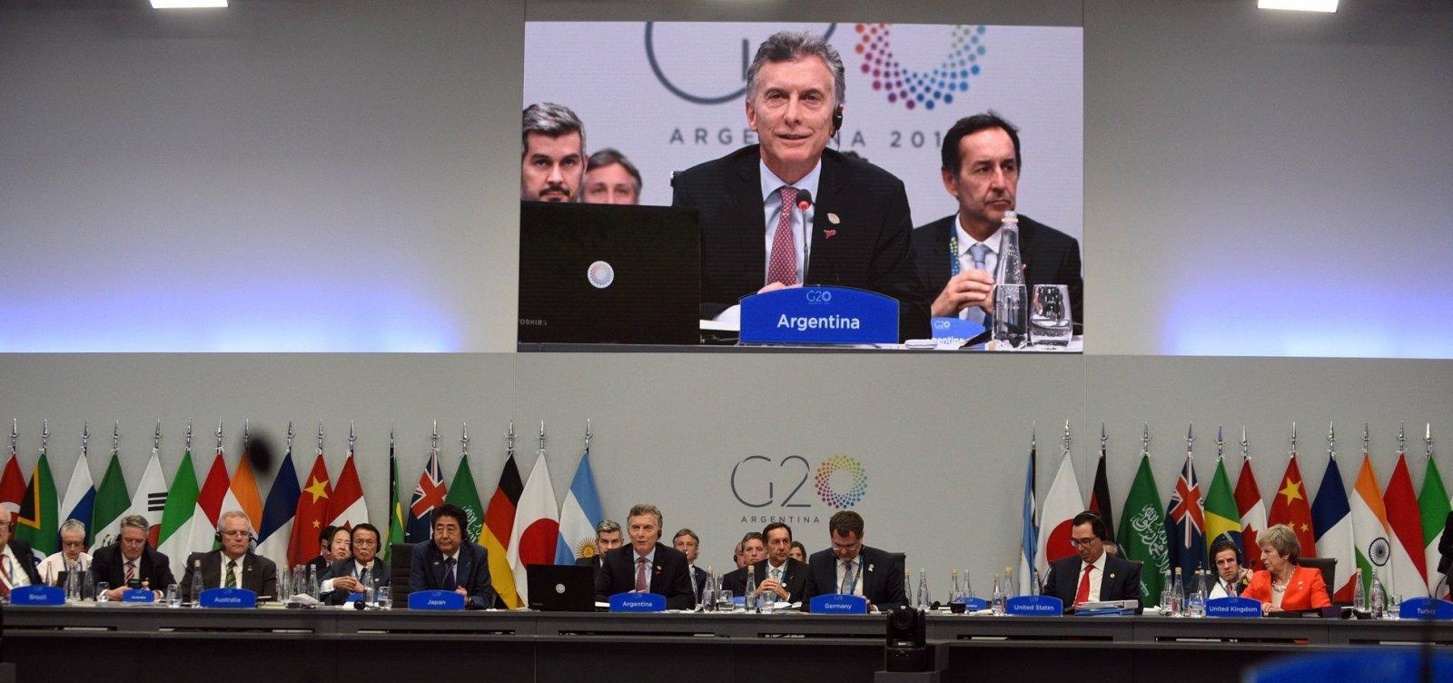[Em comunicado, G20 apoia reforma na OMC e afirma que Acordo de Paris é irreversível]