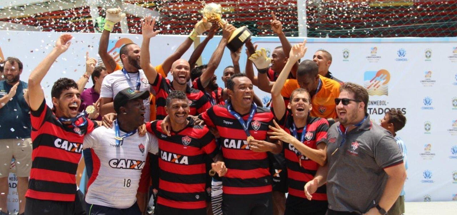 [Vitória é campeão da Libertadores de futebol de areia]