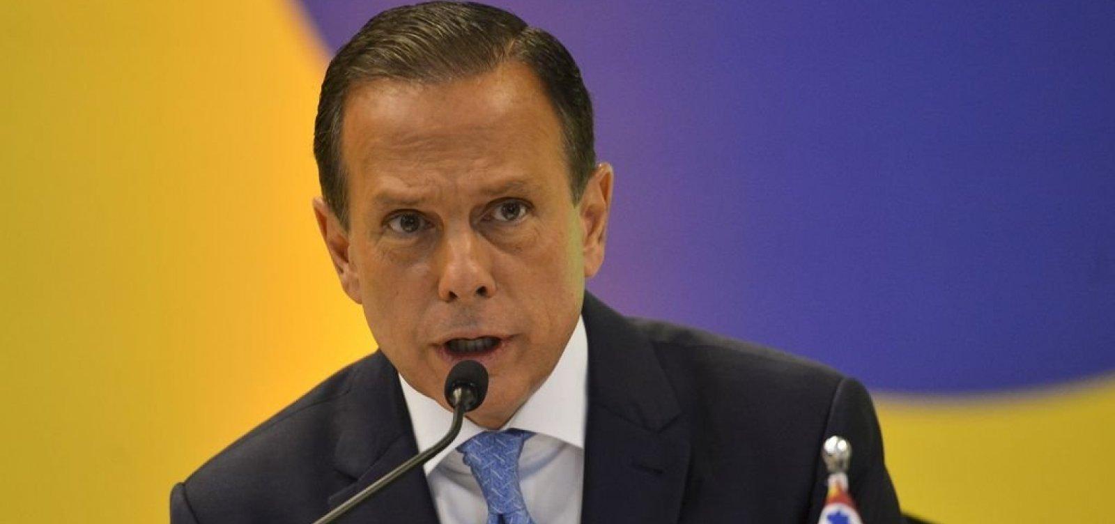 [Doria diz que 'novo PSDB' vai apoiar iniciativas de Bolsonaro]