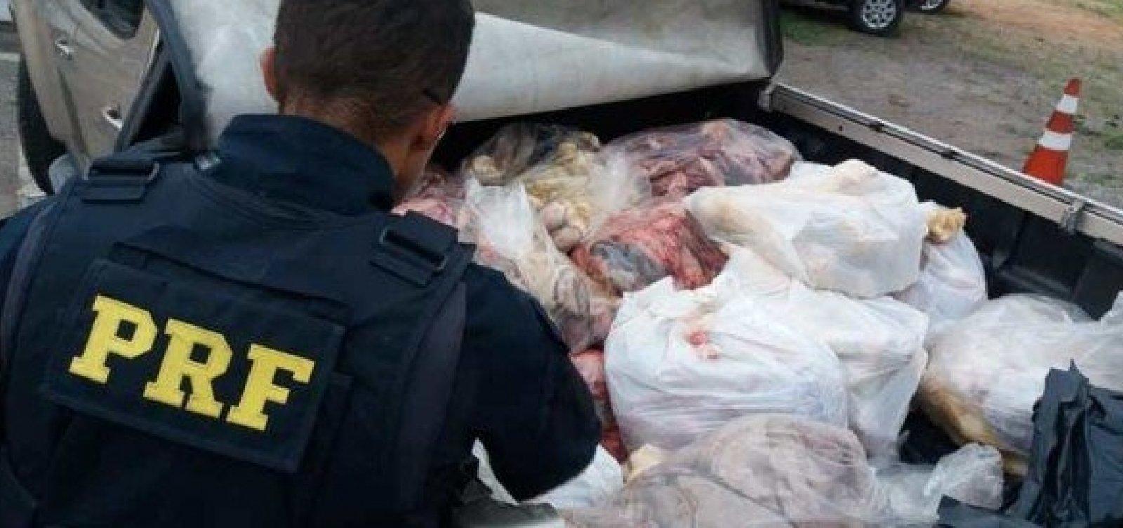 [PRF apreende 700kg de carne em transporte irregular em Jequié]
