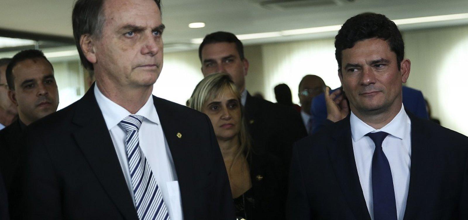 [Moro irá com Bolsonaro a Davos e falará sobre combate à corrupção]
