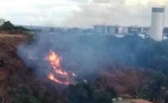 [Incêndio atinge vegetação na região do Bate Facho]