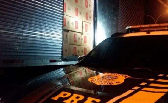 [Polícia Rodoviária Federal apreende caminhão com R$ 1 milhão em cigarros contrabandeados]