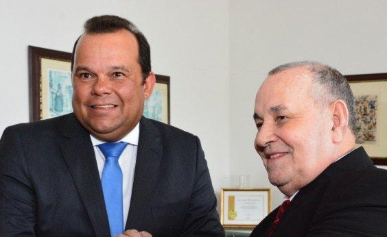 [Em encontro, Geraldo Júnior e presidente do TJ-BA discutem parceria entre poderes]