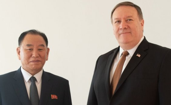 [Pompeo se reúne com representante da Coreia do Norte em Washington]