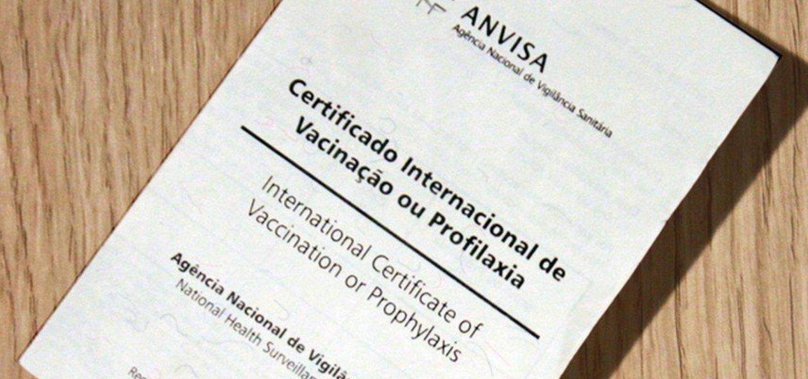 [Anvisa libera emissão digital de certificado internacional de vacinação]