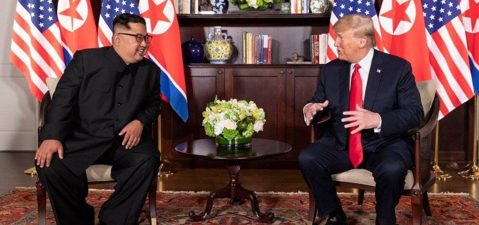 [Trump se encontra com Kim Jong-un novamente ainda este mês]