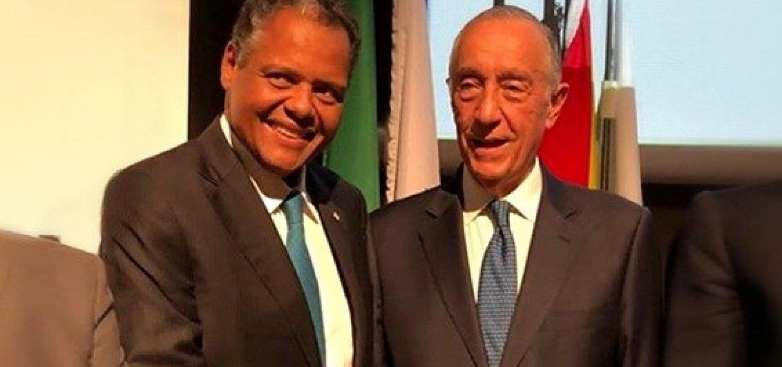 [Antônio Brito e presidente de Portugal dialogam sobre as Santas Casas]