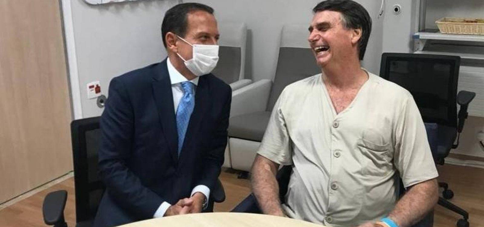 [Após visitar Bolsonaro, Doria diz que texto da Previdência está prestes a ser fechado]