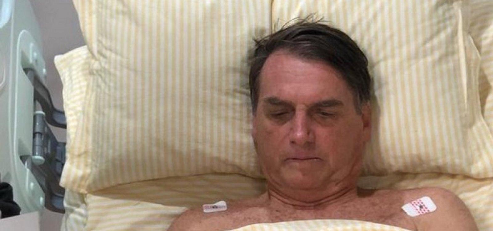 [Bolsonaro tem quadro pulmonar 'em resolução' e não sente dor, diz boletim]