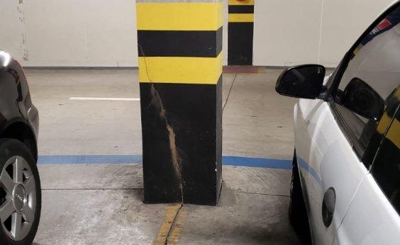 [Rachadura em estacionamento assusta consumidores do Shopping Paralela]