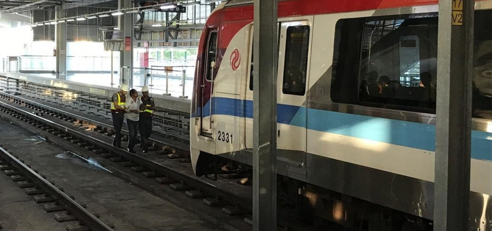 [Linha 2 do Metrô de Salvador tem lentidão por conta de acidente]