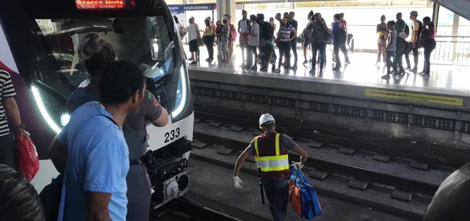 [Linha 2 do metrô de Salvador volta a operar após acidente com passageiro]