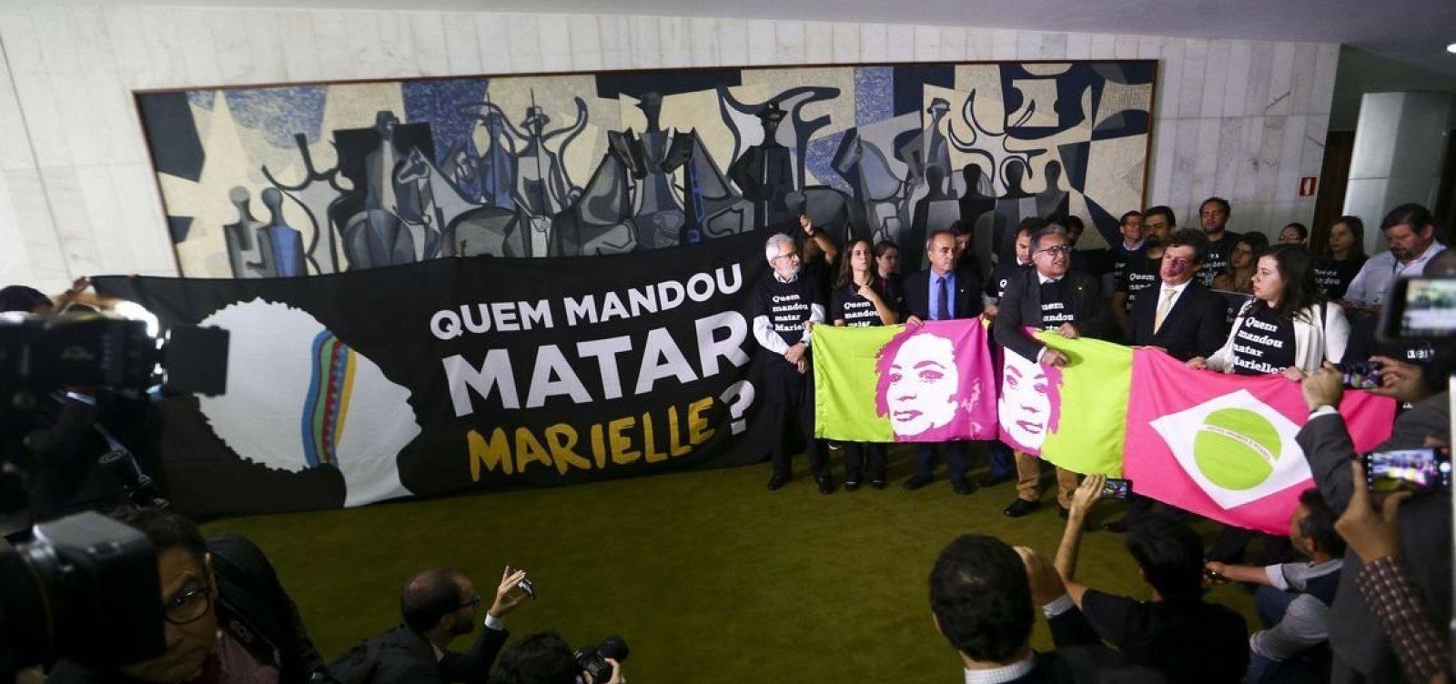 [Bancada do PSOL na Câmara faz ato em um ano da morte de Marielle]