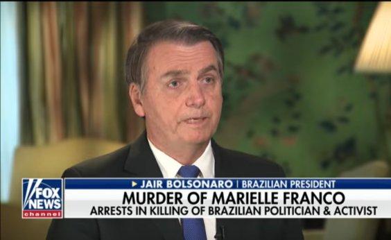 ['Eu nem a conhecia', diz Bolsonaro à Fox News sobre Marielle]