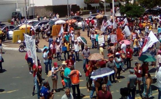 [Manifestantes encerram protesto contra Reforma da Previdência]