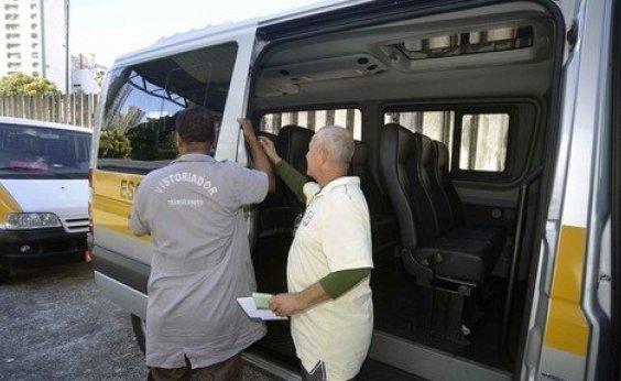 [Vistoria de veículos para transporte escolar de Salvador começa segunda]