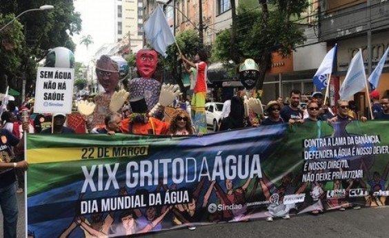 [Manifestantes fazem caminhada em prol do Dia Mundial da Água no Campo Grande]