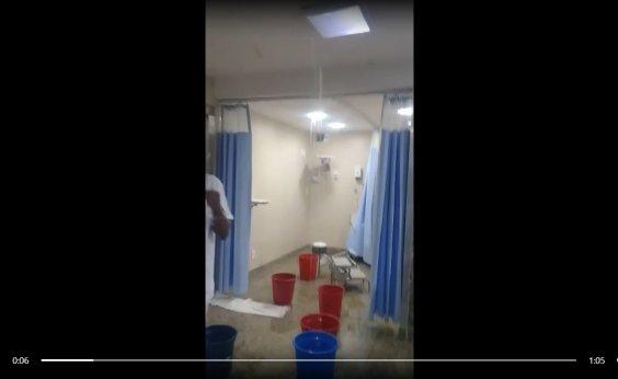[Vídeo mostra Hospital Jorge Valente invadido por água da chuva]